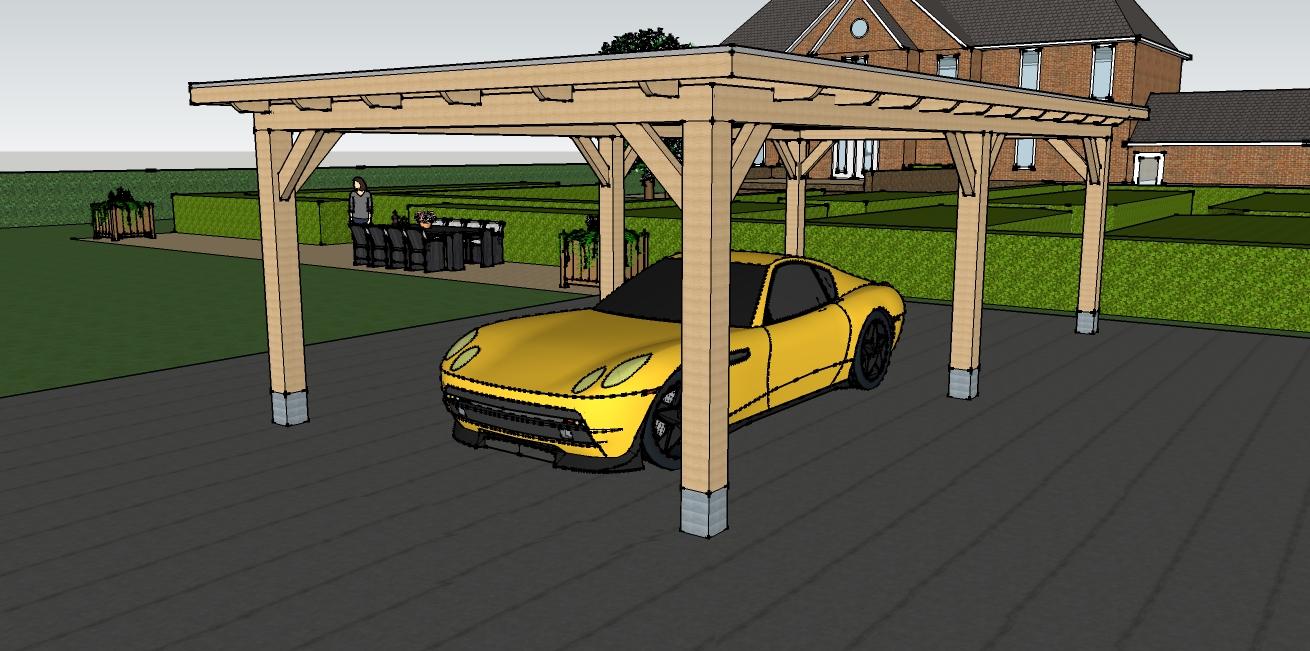 Houten carport - Vechtdalbouwsystemen