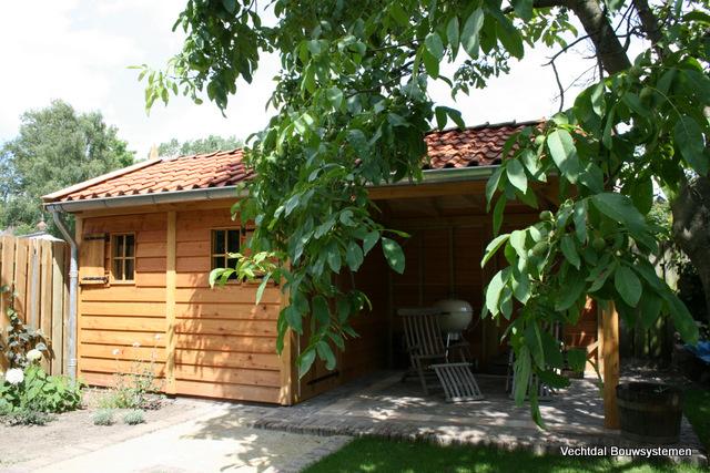 houten-tuinhuis-3 - Tuinhuis met veranda Deluxe