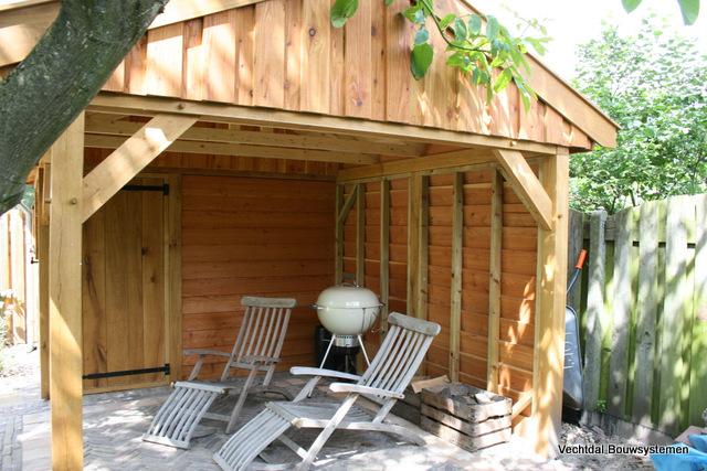 houten-tuinhuis-4 - Tuinhuis met veranda Deluxe