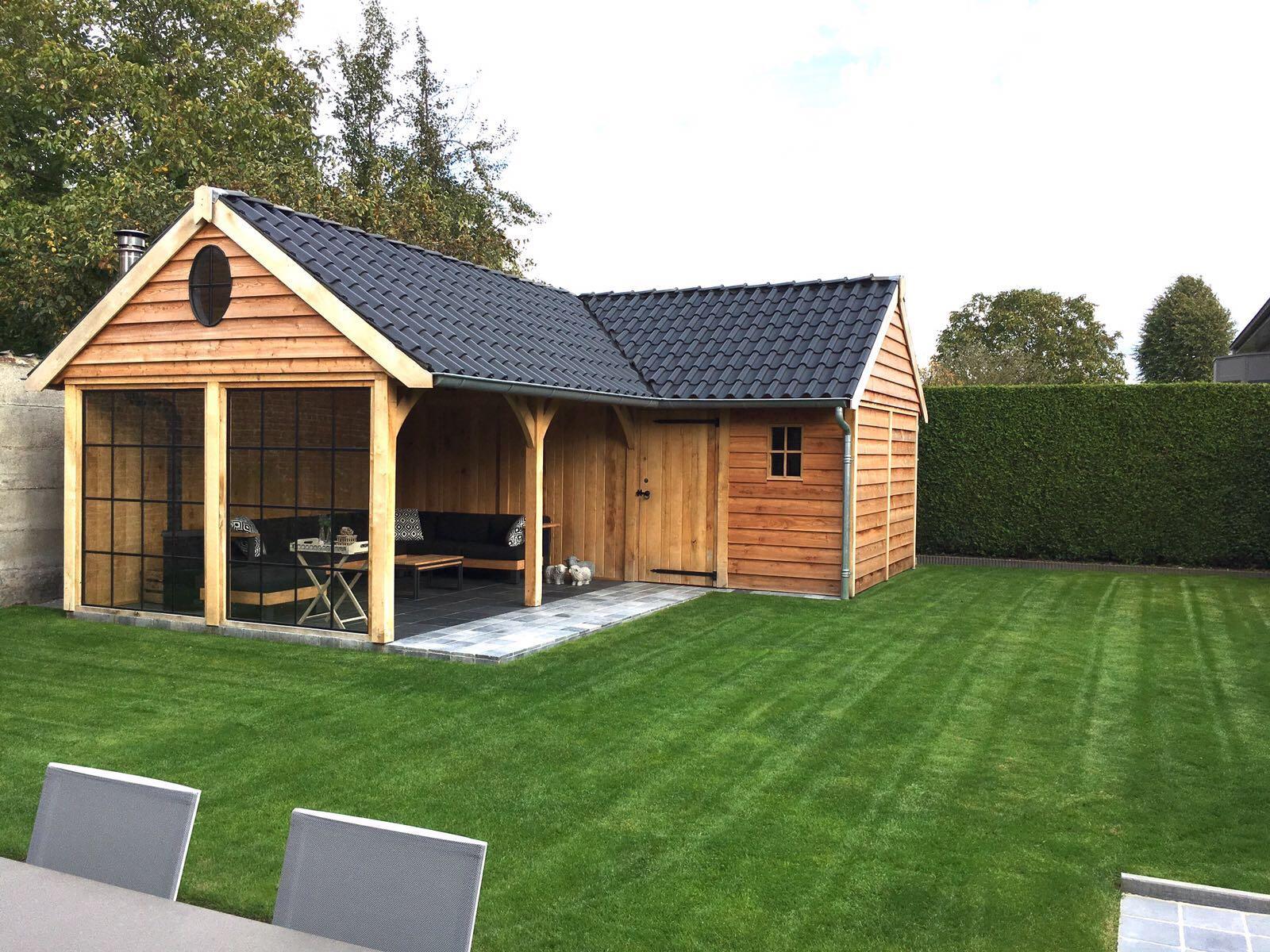 poolhouse-3-min - Tuinhuis met veranda Hoekmodel