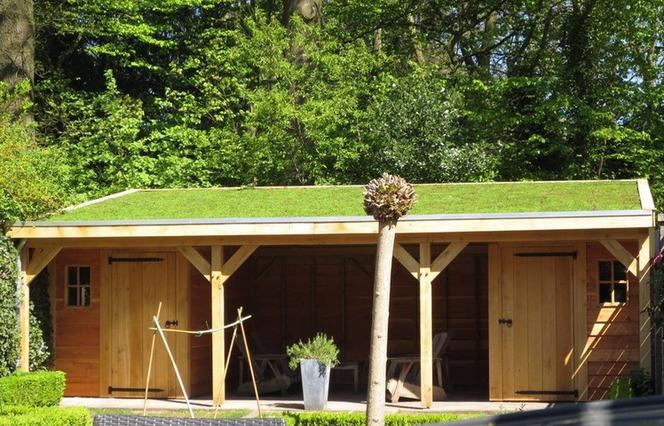 houten-tuinhuis-groendak-4 - Houten Tuinhuis