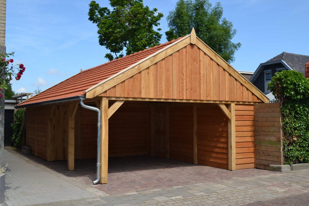 Houten-schuur-met-carport-5-1024x683 - Houten Schuur met carport.
