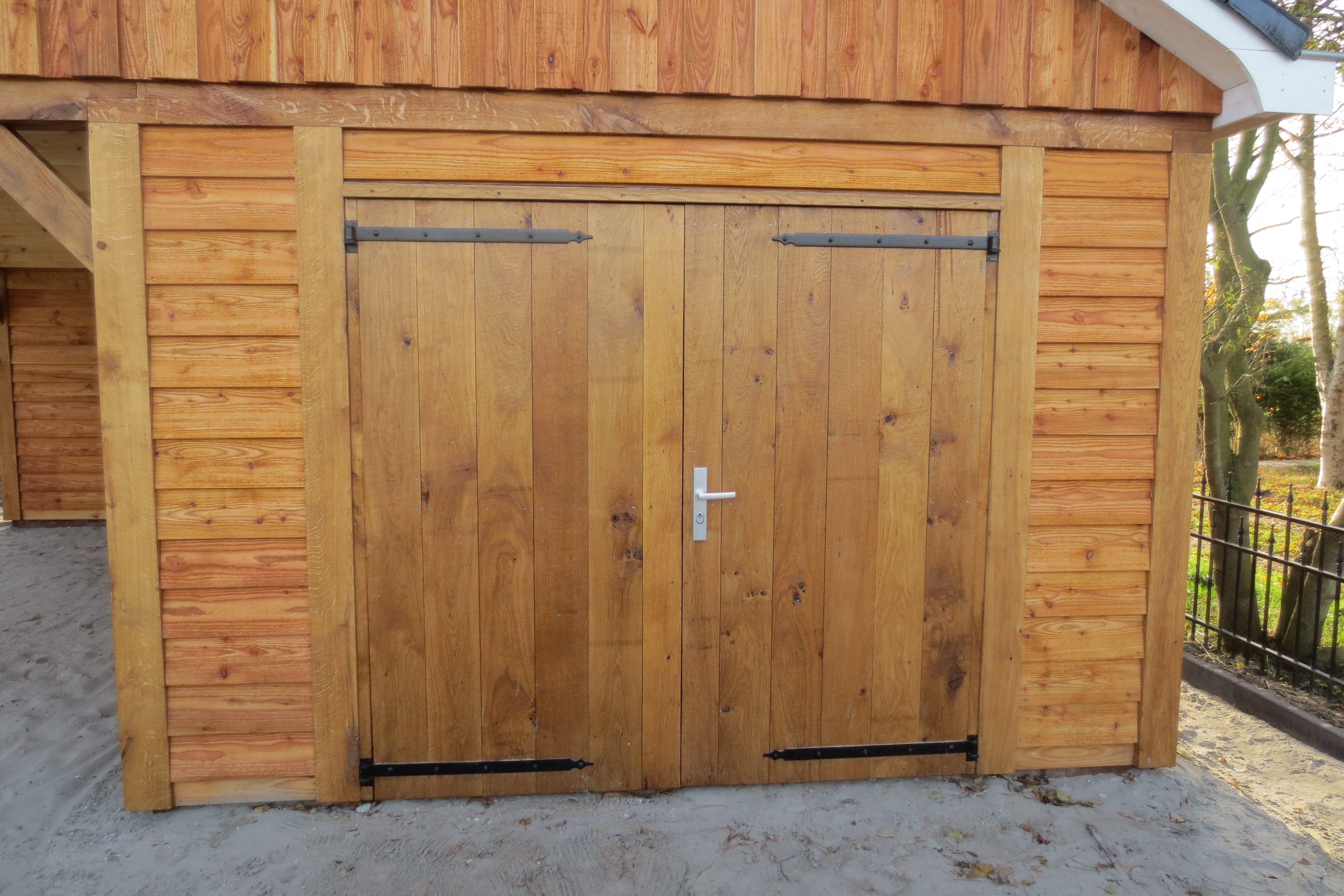 houten-garage-met-carport-1 - Project Enkhuizen: Houten garage met carport
