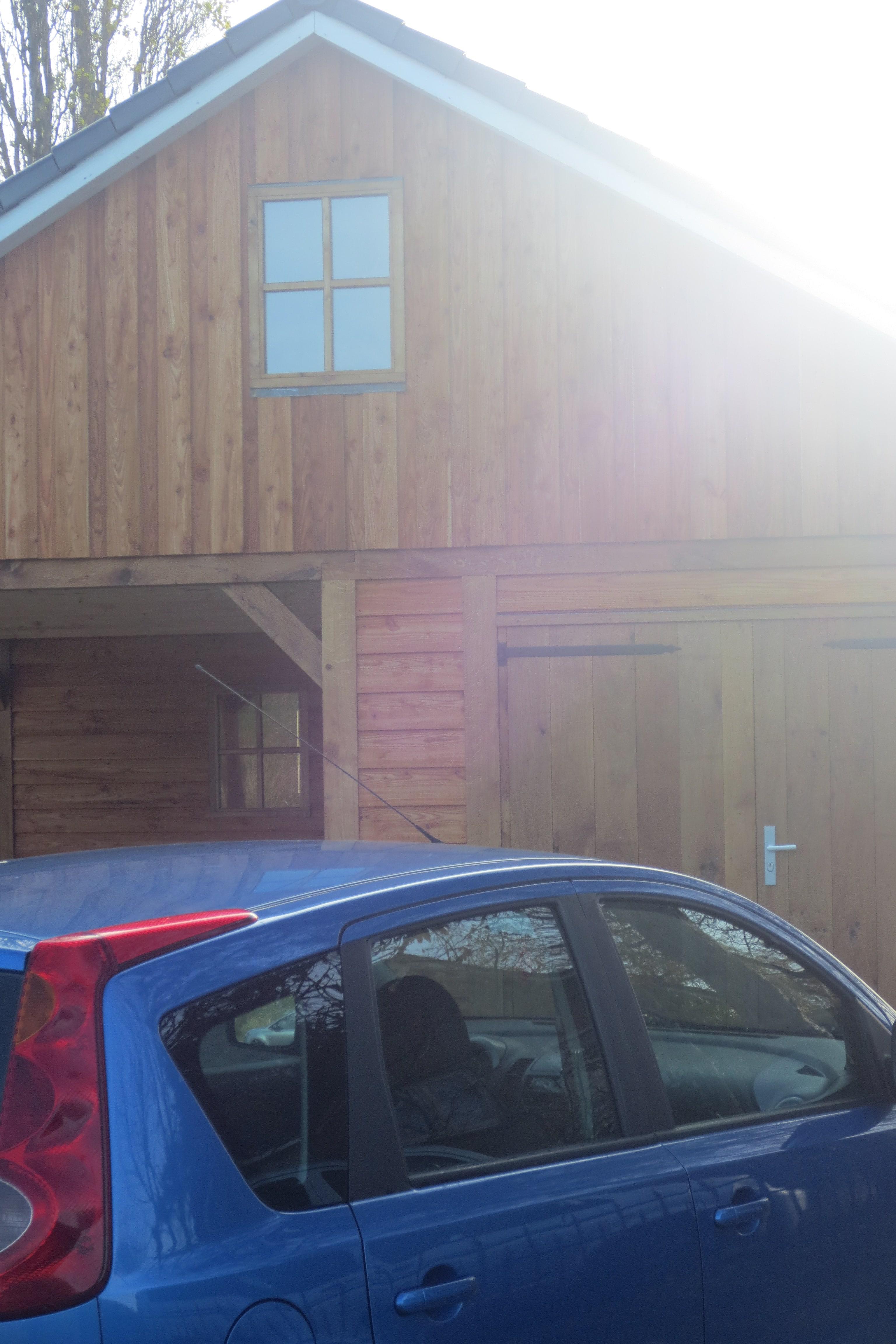 houten-garage-met-carport-13 - Project Enkhuizen: Houten garage met carport