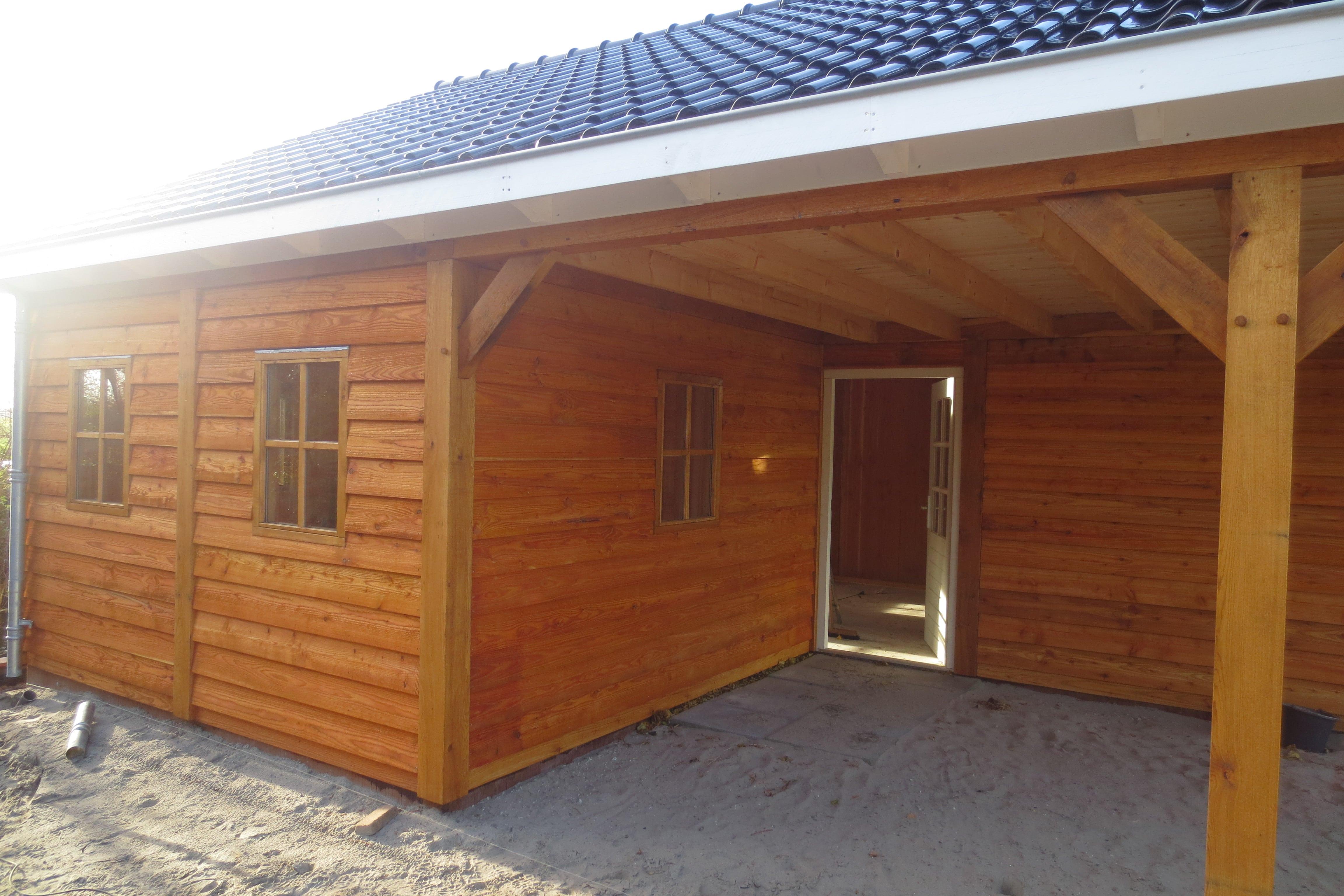 houten-garage-met-carport-6 - Project Enkhuizen: Houten garage met carport