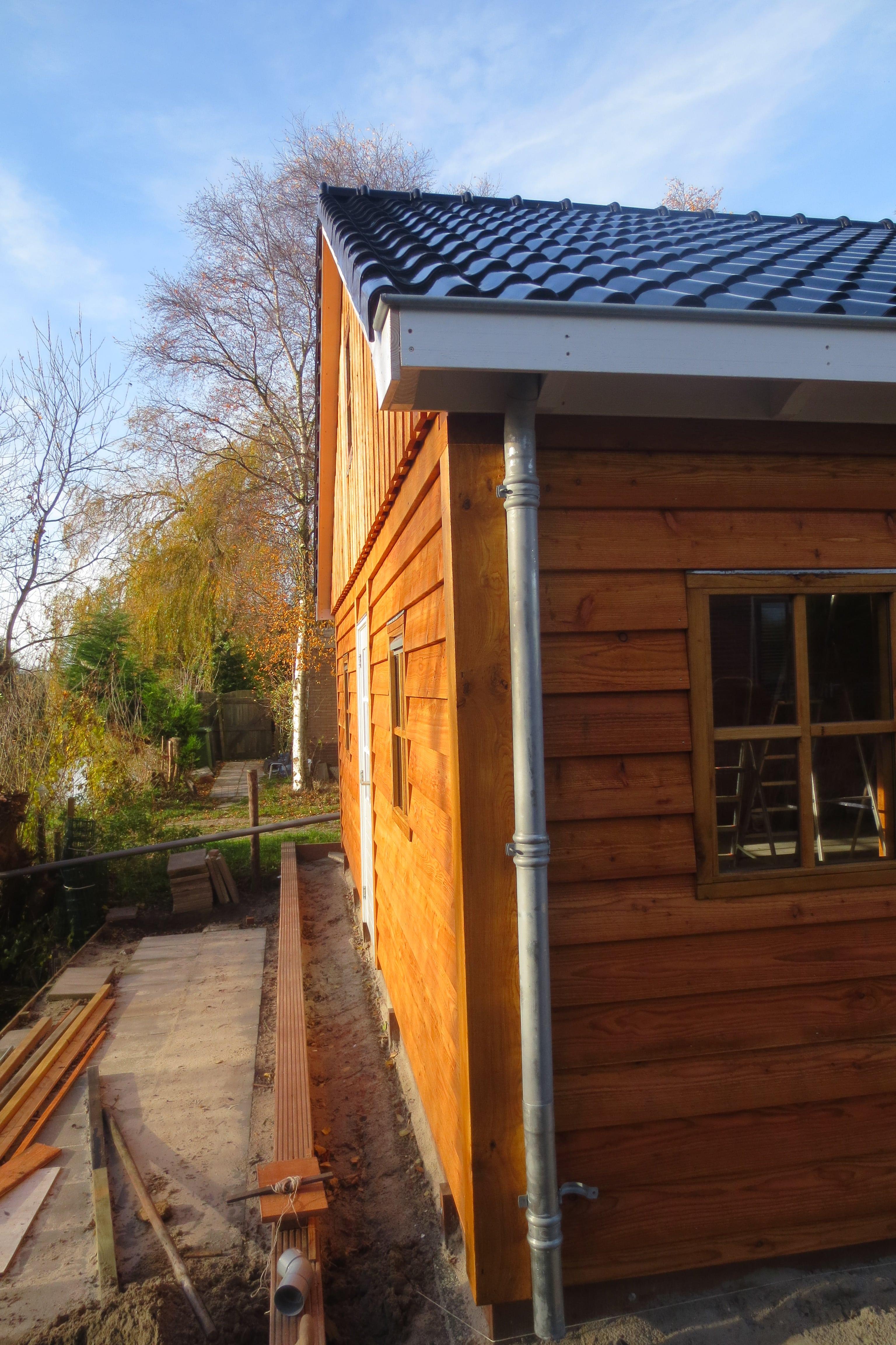 houten-garage-met-carport-7 - Project Enkhuizen: Houten garage met carport