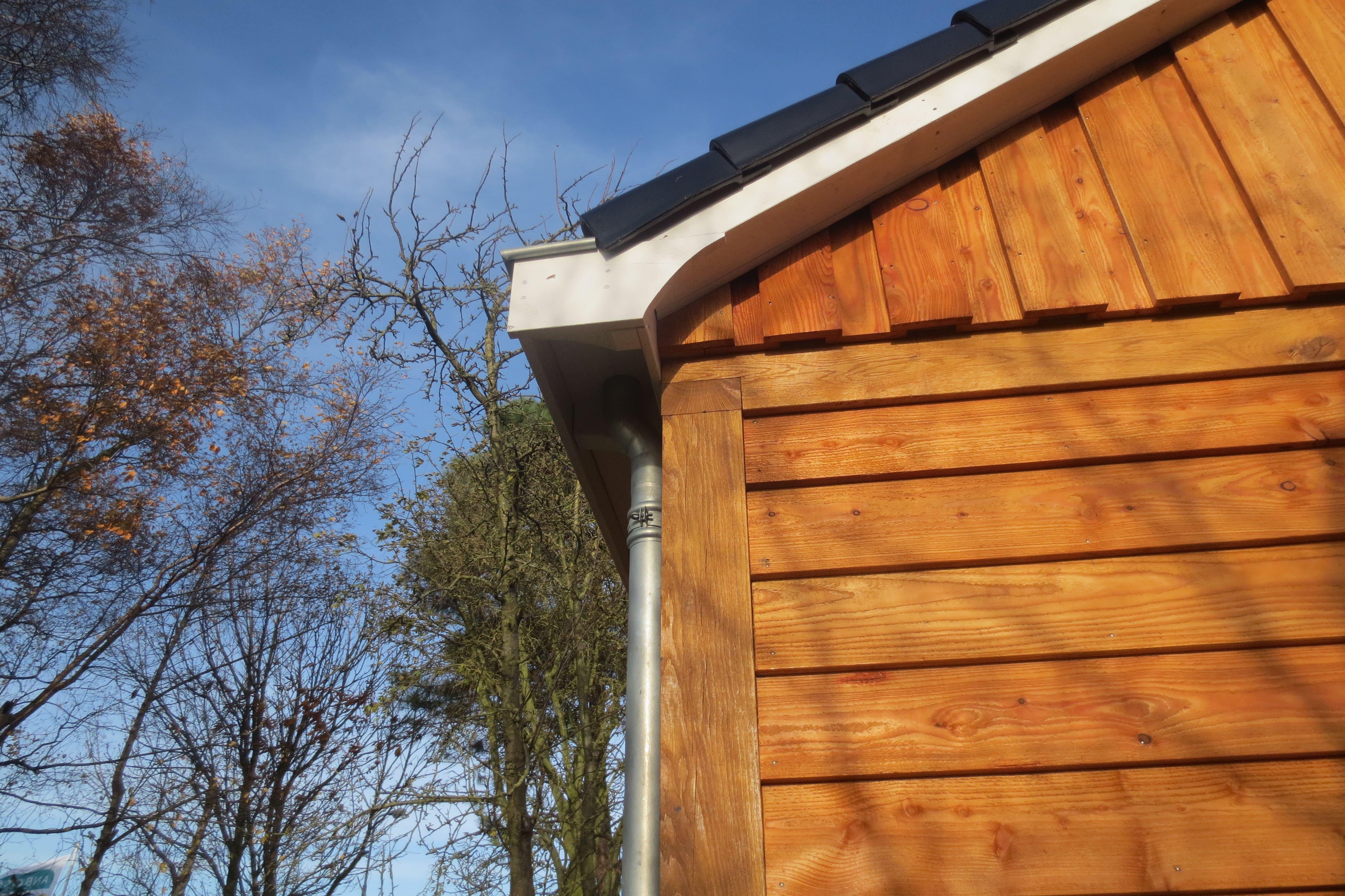 houten-garage-met-carport-9 - Project Enkhuizen: Houten garage met carport