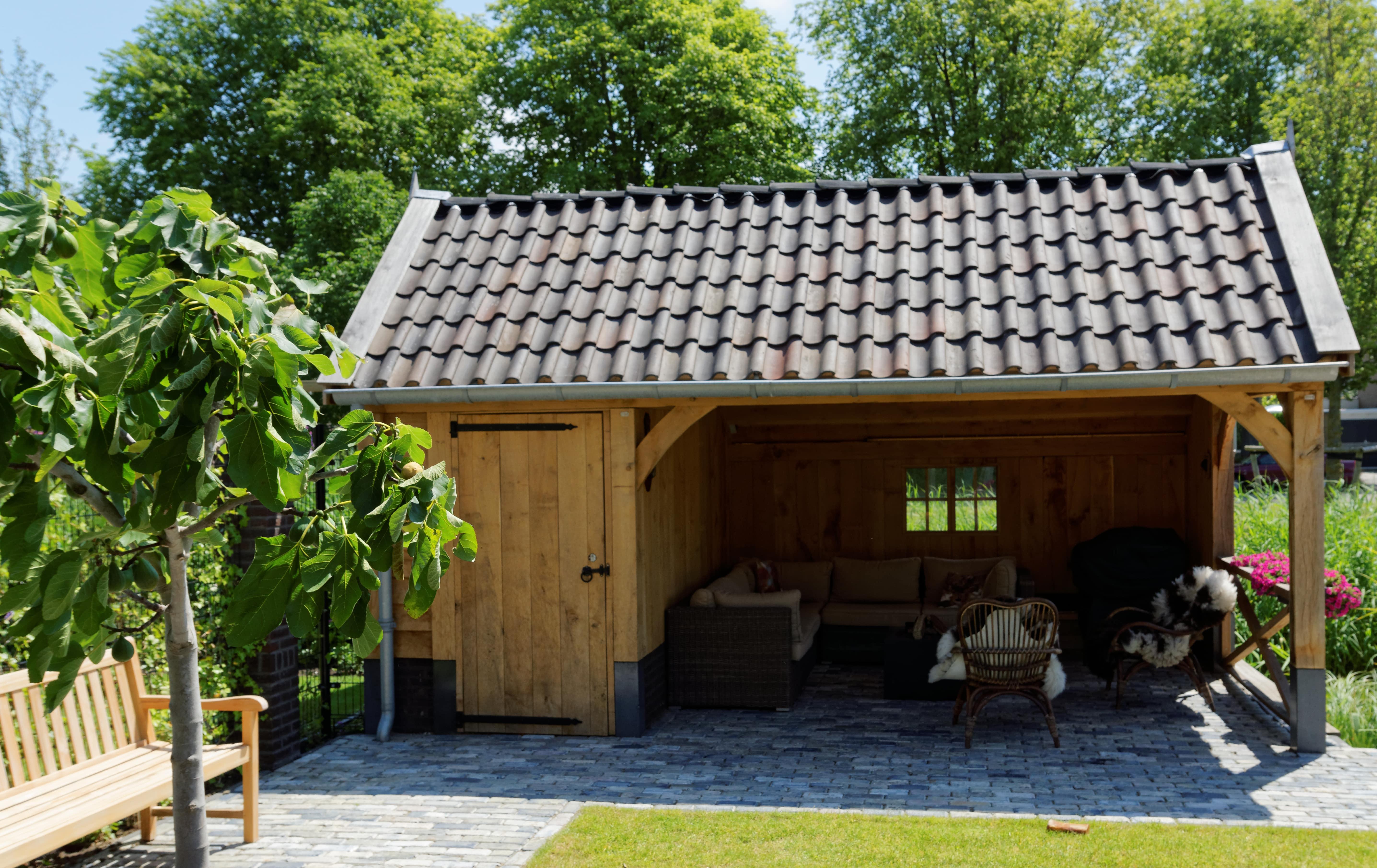 houten-kapschuur-met-tuinkamer-10-min - Project: Maassluis