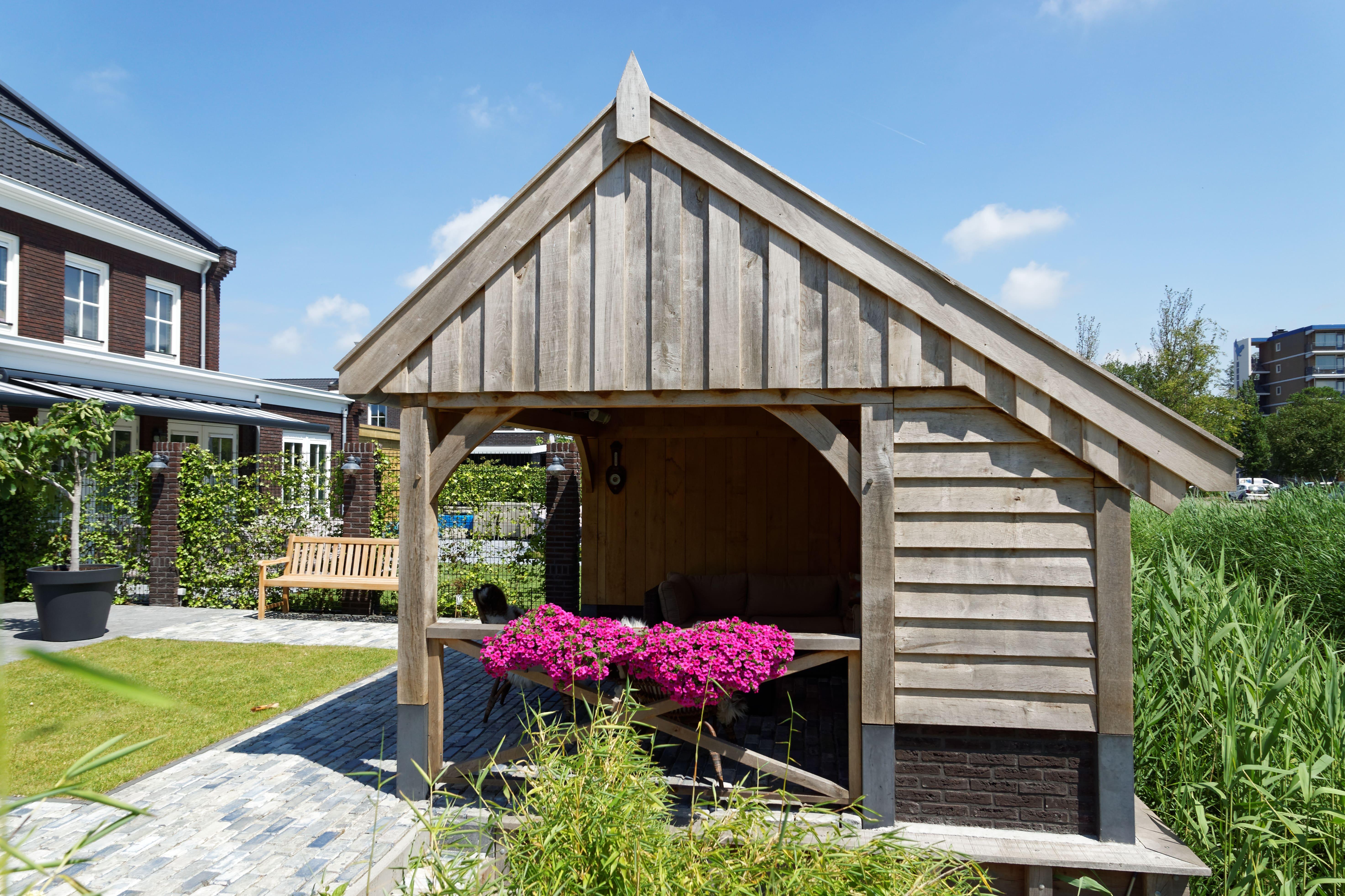 houten-kapschuur-met-tuinkamer-11-min - Project: Maassluis