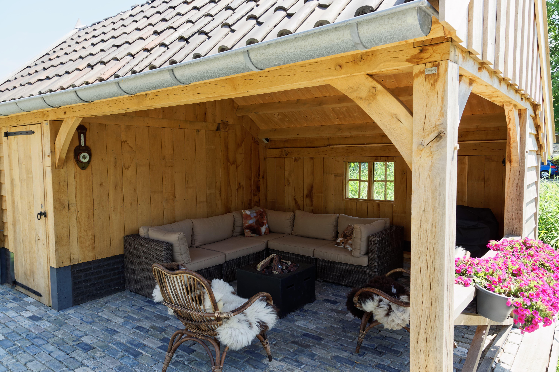 houten-kapschuur-met-tuinkamer-5-min - Project: Maassluis