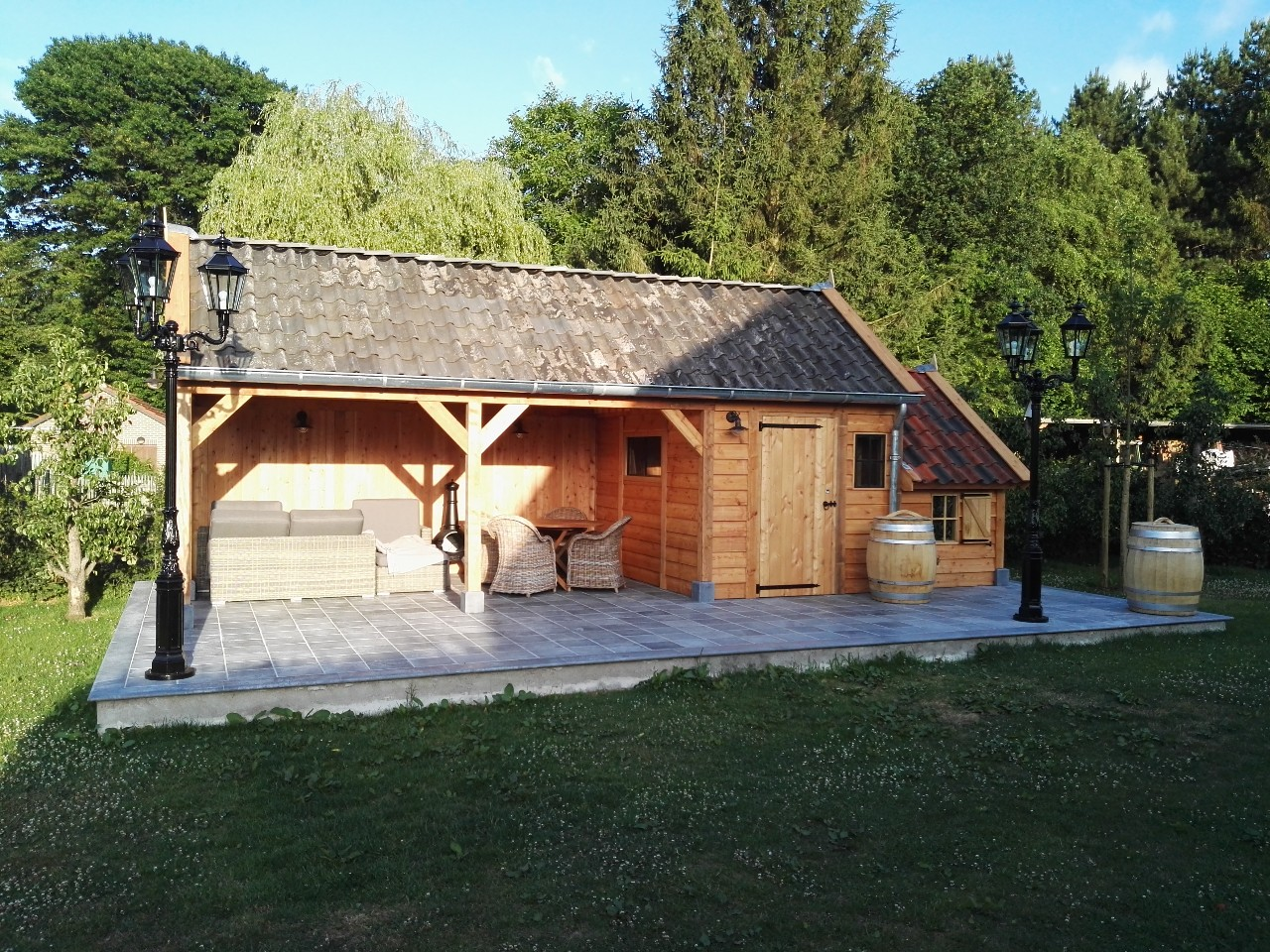 houten-tuinhuis-met-tuinkamer-1 - Project Lummen: Houten tuinhuis met tuinkamer