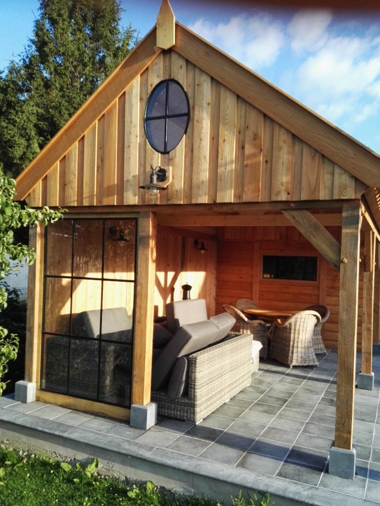 houten-tuinhuis-met-tuinkamer-2 - Project Lummen: Houten tuinhuis met tuinkamer