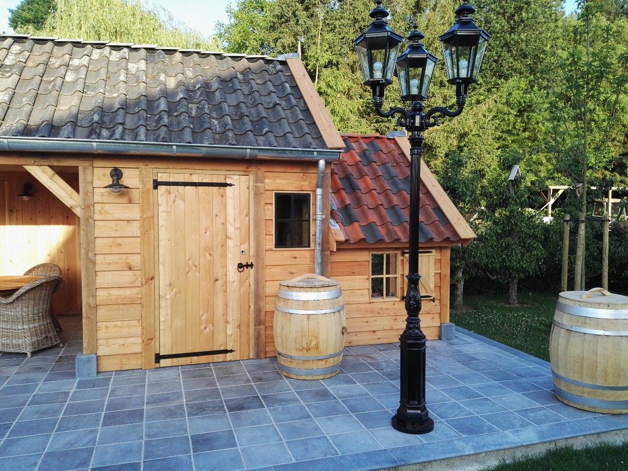 houten-tuinhuis-met-tuinkamer-3 - Project Lummen: Houten tuinhuis met tuinkamer