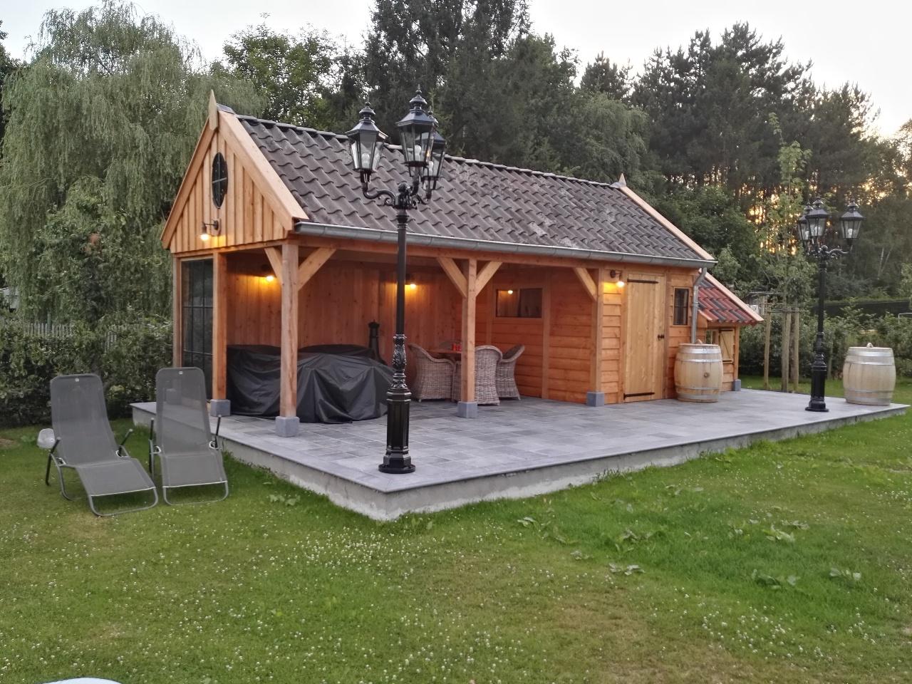 houten-tuinhuis-met-tuinkamer - Project Lummen: Houten tuinhuis met tuinkamer