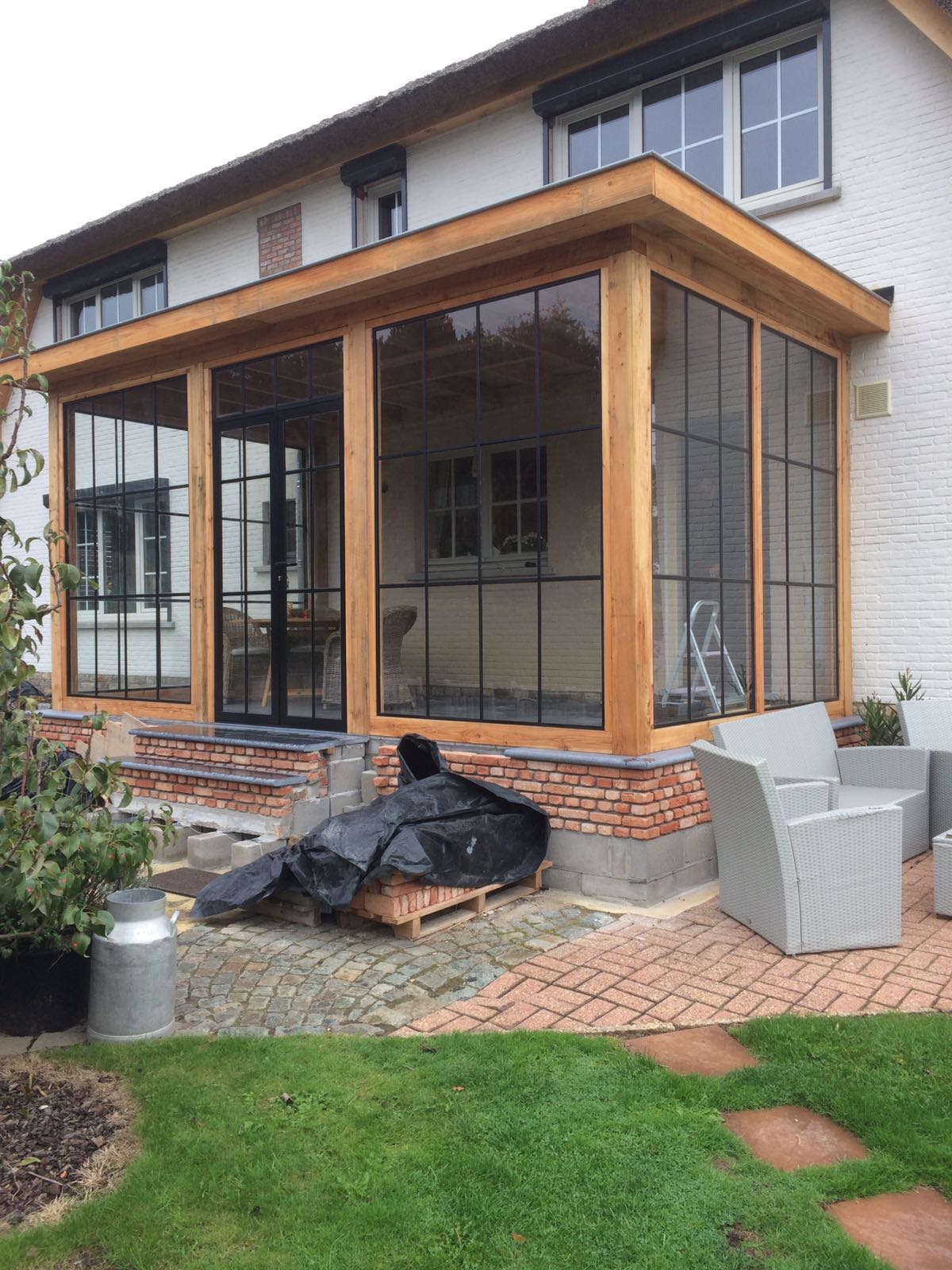 houten-tuinkamer-serre-3 - Project Belgiè gesloten tuinkamer-serre.