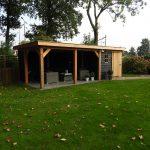 Tuinhuis & buitenkamer met platdak