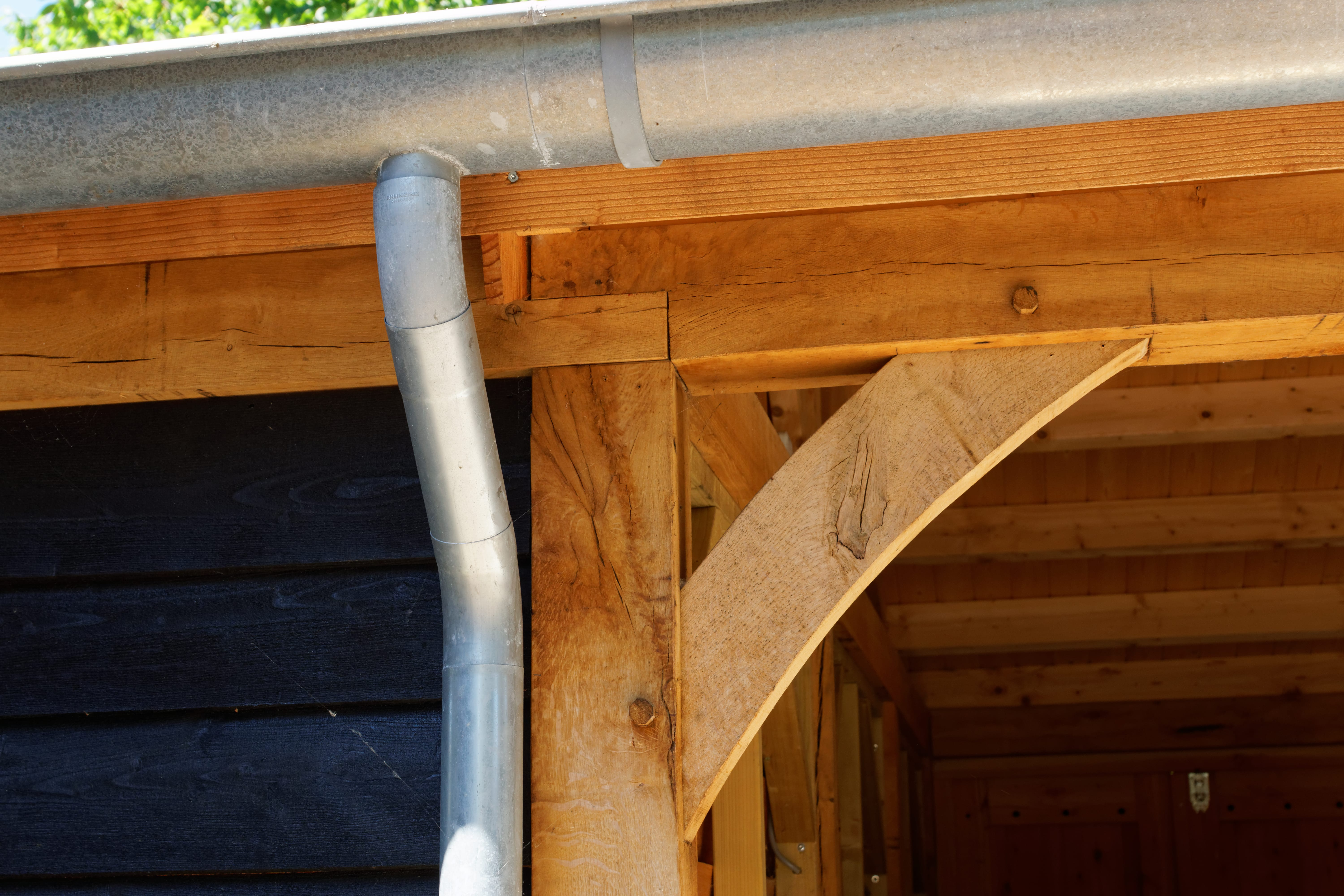 houten-kapschuur-met-overkapping-1 - Project: Meppel houten kapschuur met carport