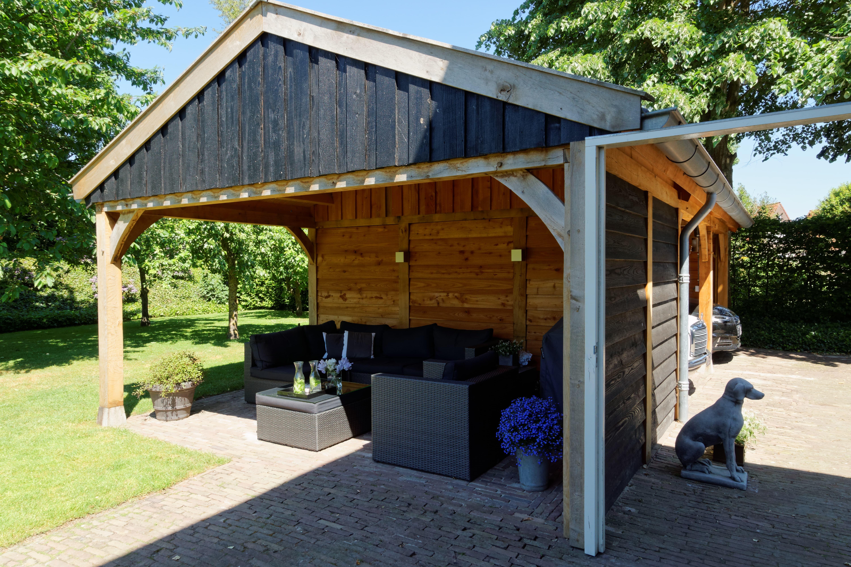 houten-kapschuur-met-overkapping-3 - Project: Meppel houten kapschuur met carport