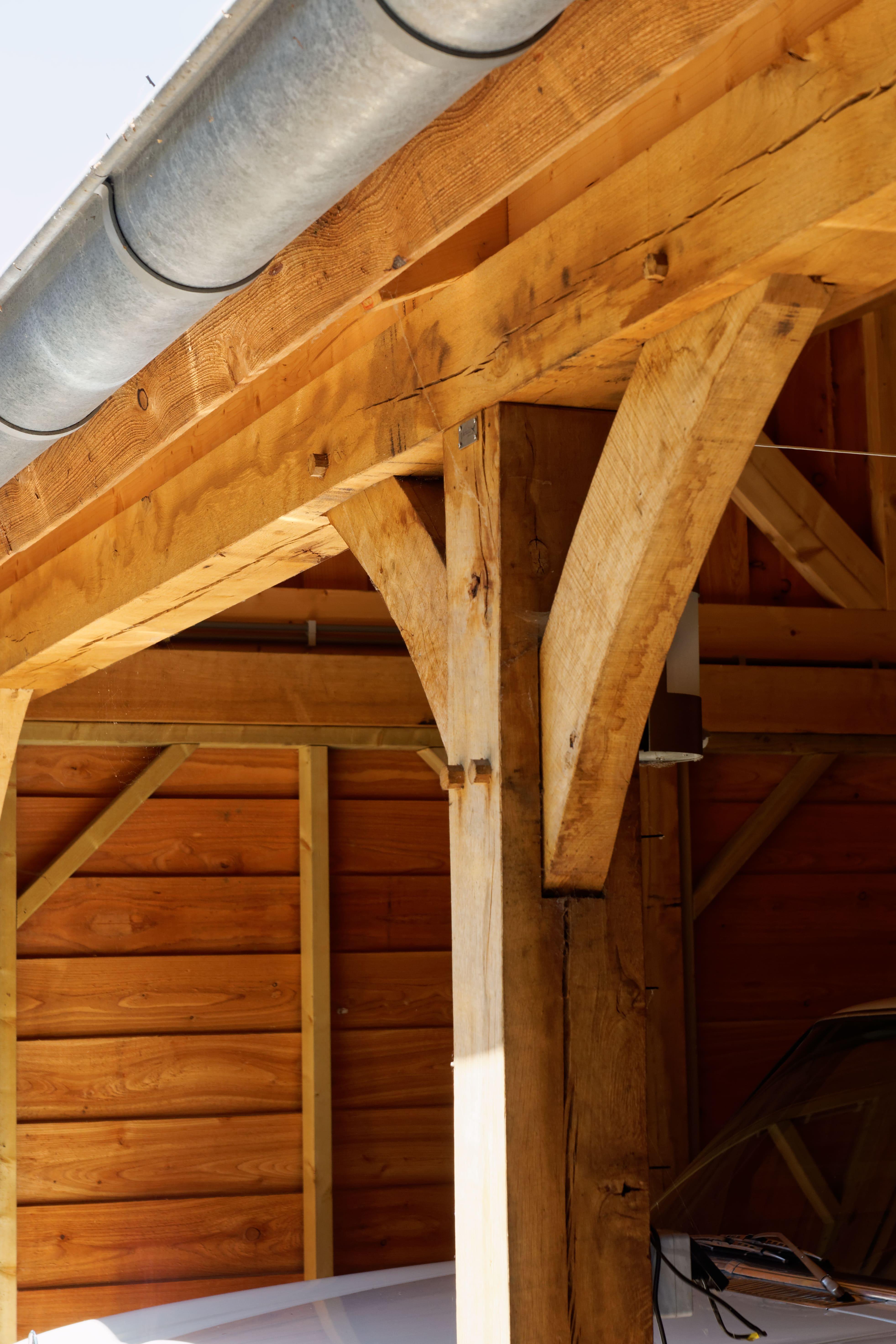 houten-kapschuur-met-overkapping-4 - Project: Meppel houten kapschuur met carport