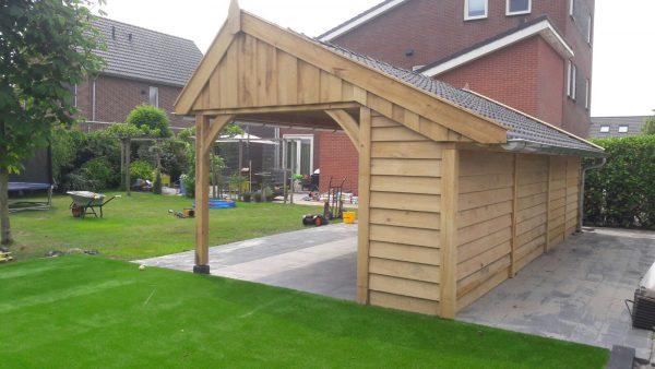 houten-kapschuur-met-veranda-1-600x338 - Houten kapschuur met veranda