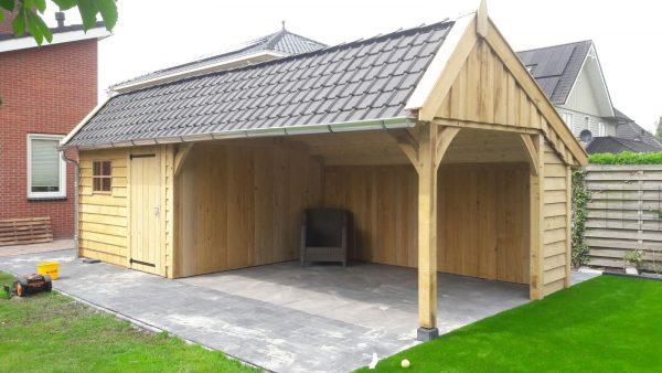houten-kapschuur-met-veranda-2-600x338 - Houten kapschuur met veranda