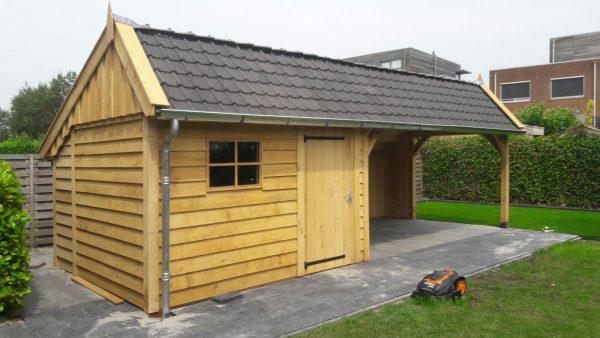 houten-kapschuur-met-veranda-3-600x338 - Houten kapschuur met veranda