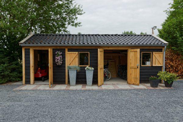 houten-tuinschuur-7-600x400 - Houten tuinschuur