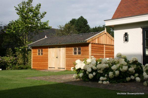 houten-tuinschuur-9-600x400 - Stijlvolle tuinschuur met bergruimte