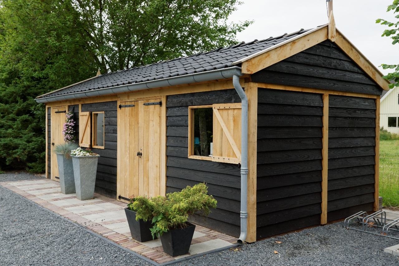 houten-tuinschuur - Project Asperen: Houten tuinschuur