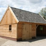 Landelijke houten schuren