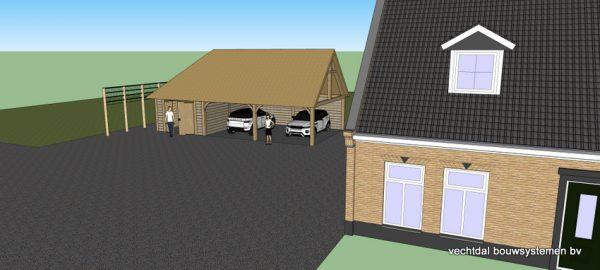 ontwerp-schuur-met-rietendak-7-600x270 - Ontwerp: schuur en carport met rietendak.