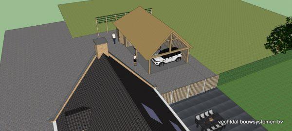 ontwerp-schuur-met-rietendak-8-600x270 - Ontwerp: schuur en carport met rietendak.