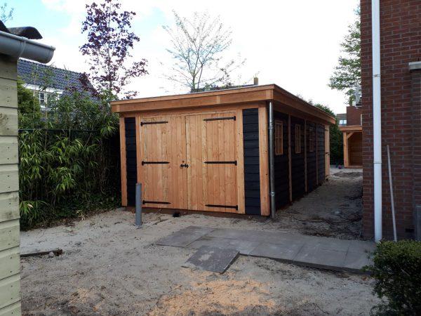 houten-overkapping-10-600x450 - Bijgebouw en overkapping te Rotterdam.