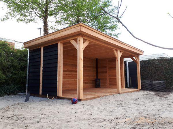 houten-overkapping-6-600x450 - Bijgebouw en overkapping te Rotterdam.