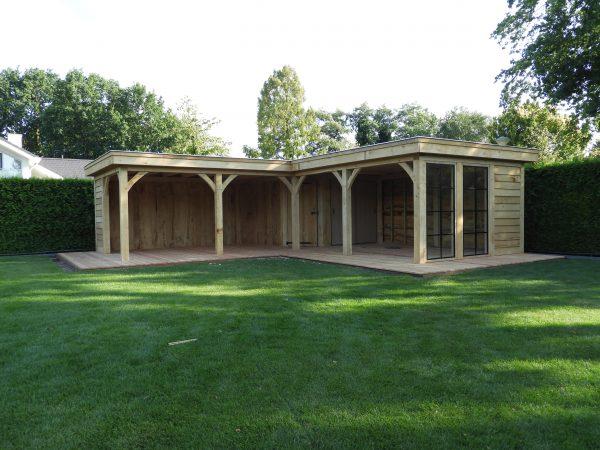eikenhouten-bijgebouw-met-tuinkamer-en-jacuzzi-overkapping-600x450 - Bijgebouw met tuinkamer en jacuzzi overkapping.