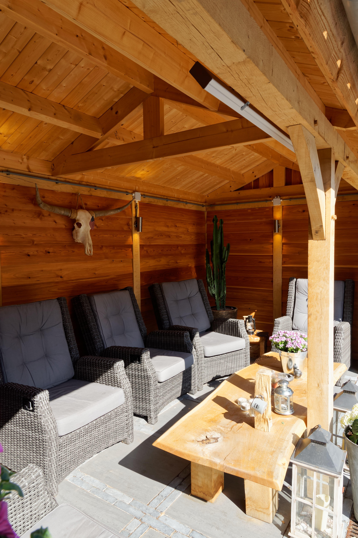houten-tuinhuis-met-overkapping-3 - Project Hoofddorp: Eiken tuinhuis met veranda