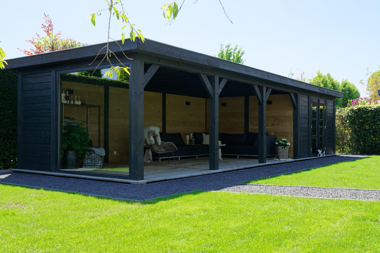 houten-tuinkamer-1 - Project Bleiswijk: Luxe tuinhuis met tuinkamer platdak.