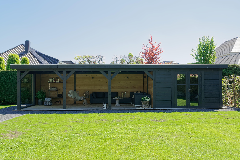 houten-tuinkamer-13 - Project Bleiswijk: Luxe tuinhuis met tuinkamer platdak.