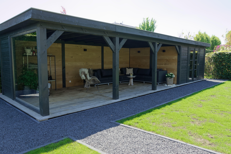 houten-tuinkamer-3 - Project Bleiswijk: Luxe tuinhuis met tuinkamer platdak.