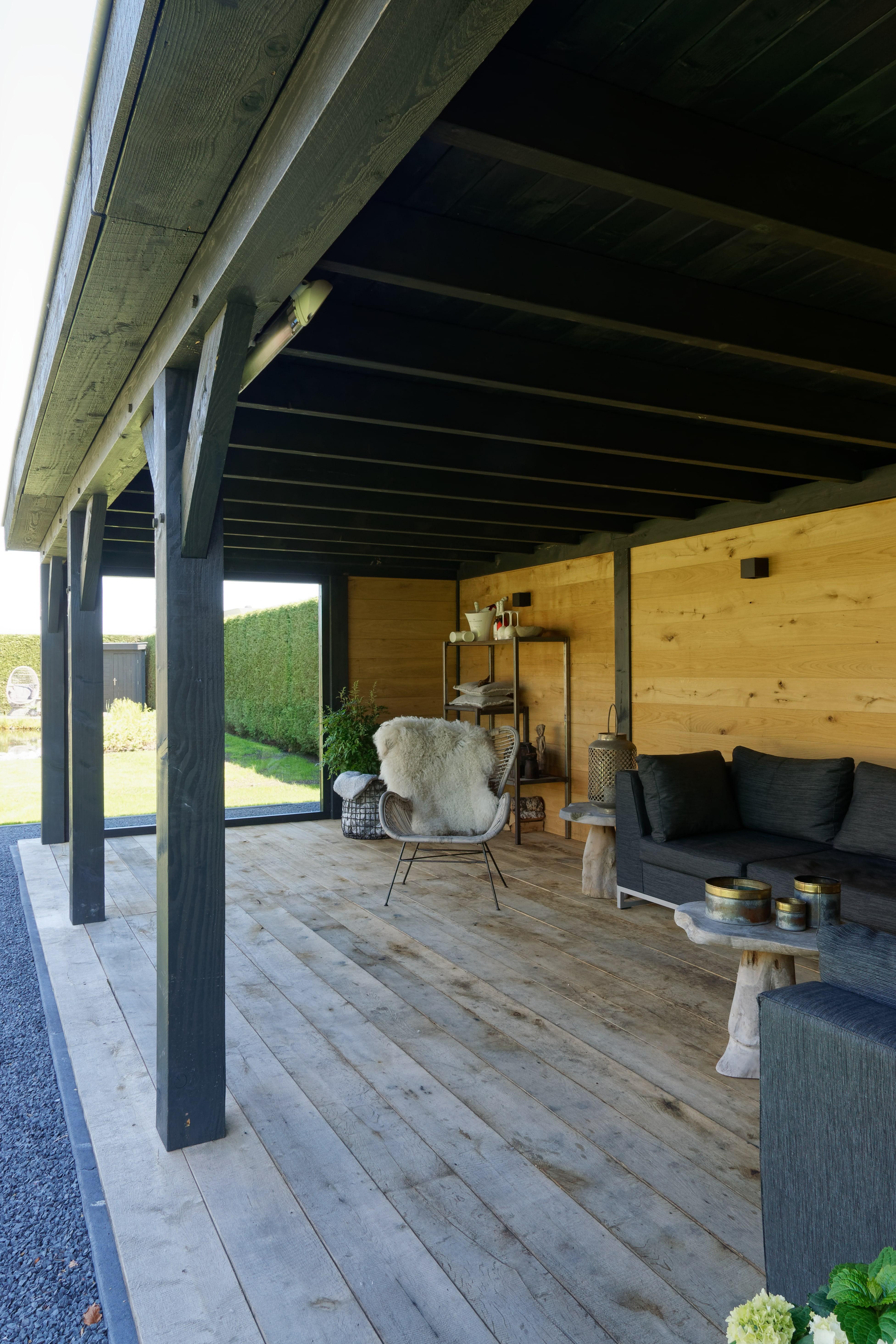 houten-tuinkamer-5 - Project Bleiswijk: Luxe tuinhuis met tuinkamer platdak.