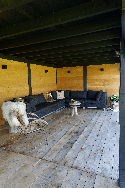 houten-tuinkamer-7 - Project Bleiswijk: Luxe tuinhuis met tuinkamer platdak.