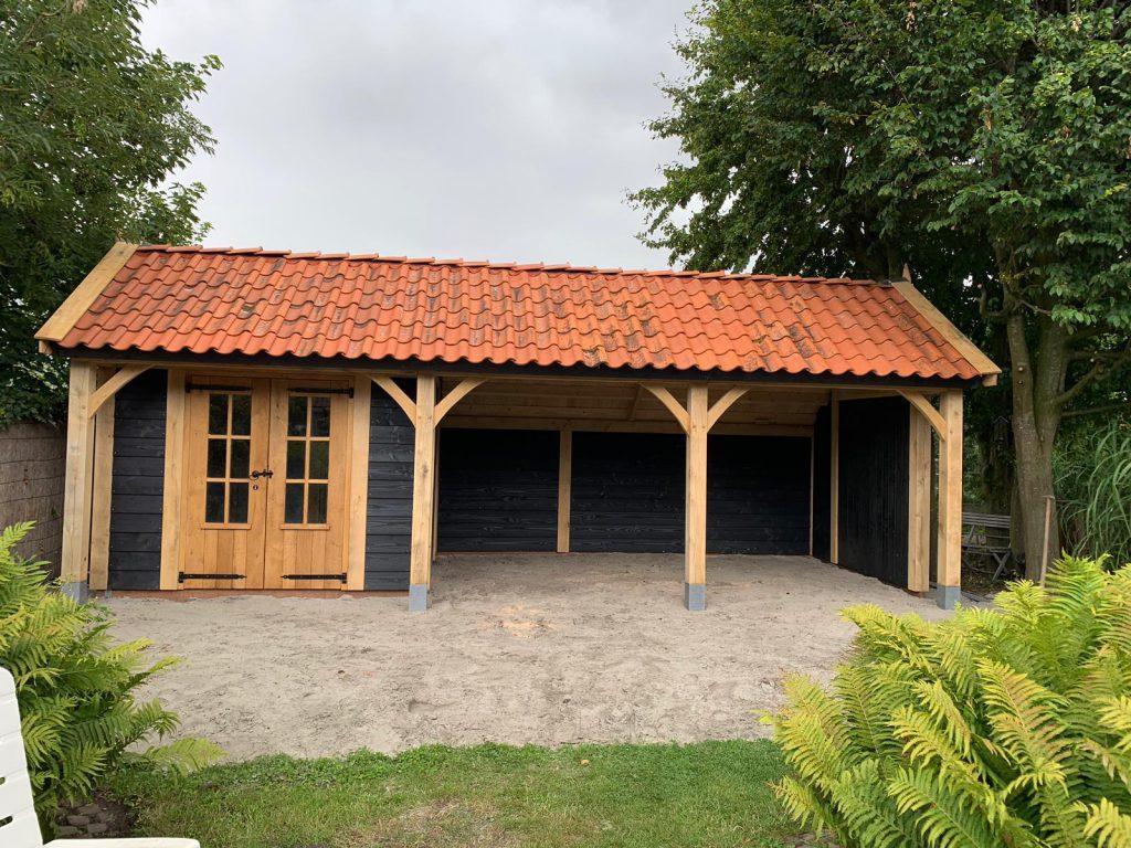 houten-kapschuur-met-tuinkamer-4-1024x768 - Houten kapschuur met tuinkamer.
