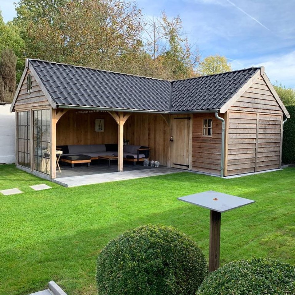 poolhouse-hoekmodel-3 - Houten poolhouse