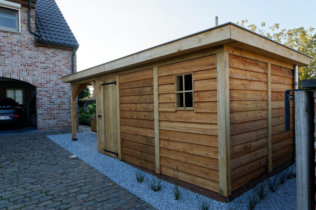 tuinhuis-platdak-2-1024x683 - Houten tuinberging met platdak