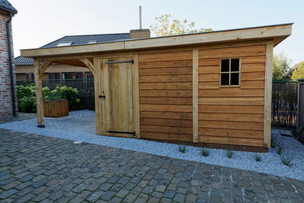 tuinhuis-platdak-3-1024x683 - Houten tuinberging met platdak