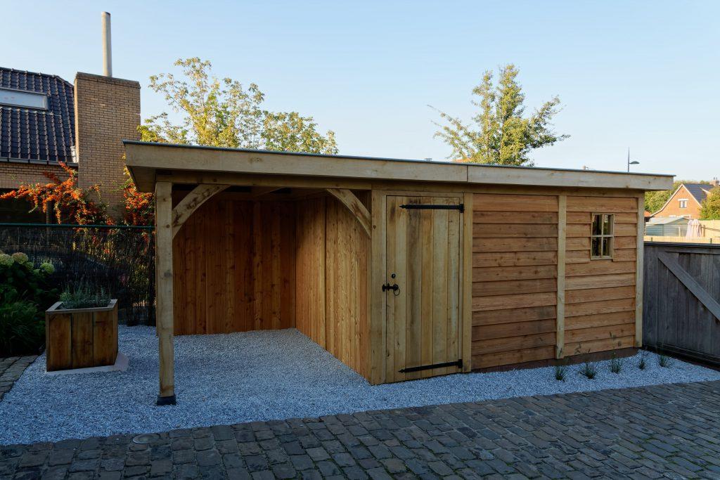 tuinhuis-platdak-4-1024x683 - Houten tuinberging met platdak