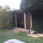 Houten tuinberging
