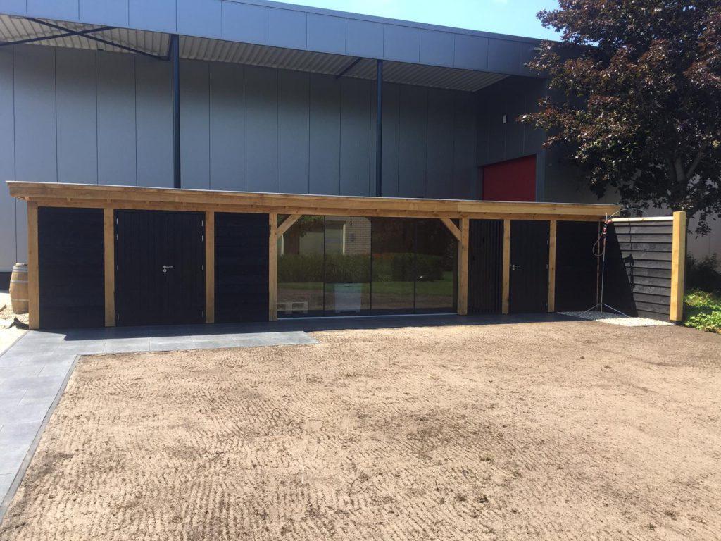 Houten-bijgebouw-met-sauna-en-tuinkamer-2-1024x768 - Houten bijgebouw met tuinkamer en sauna.
