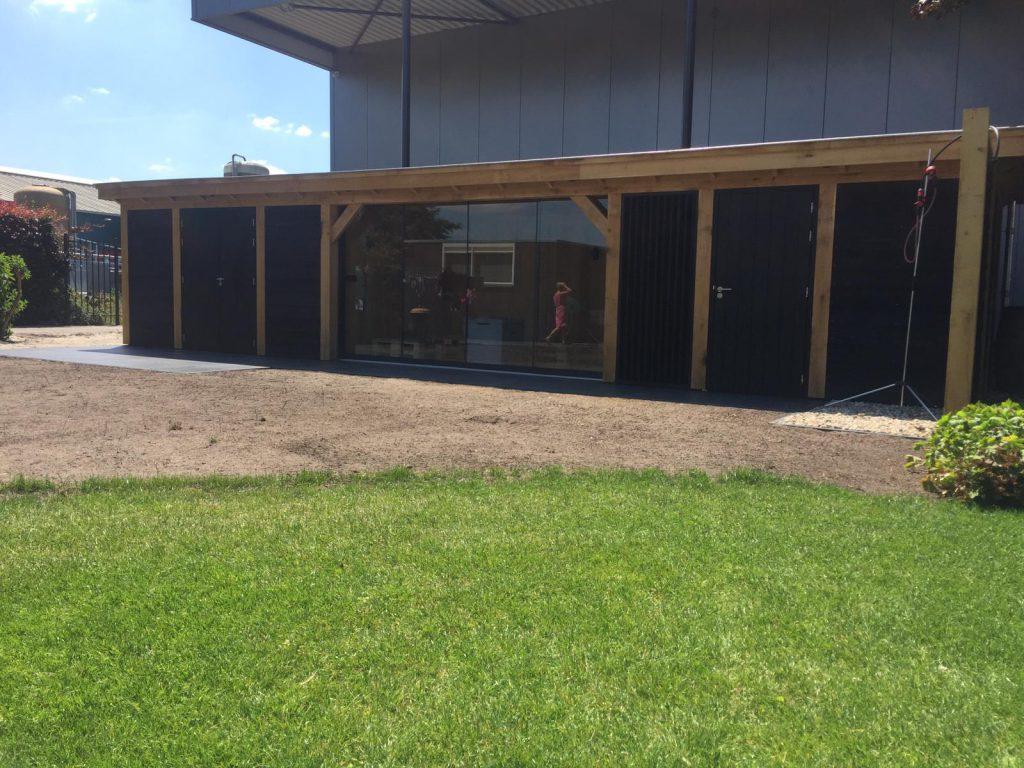 Houten-bijgebouw-met-sauna-en-tuinkamer-4-1024x768 - Houten bijgebouw met tuinkamer en sauna.