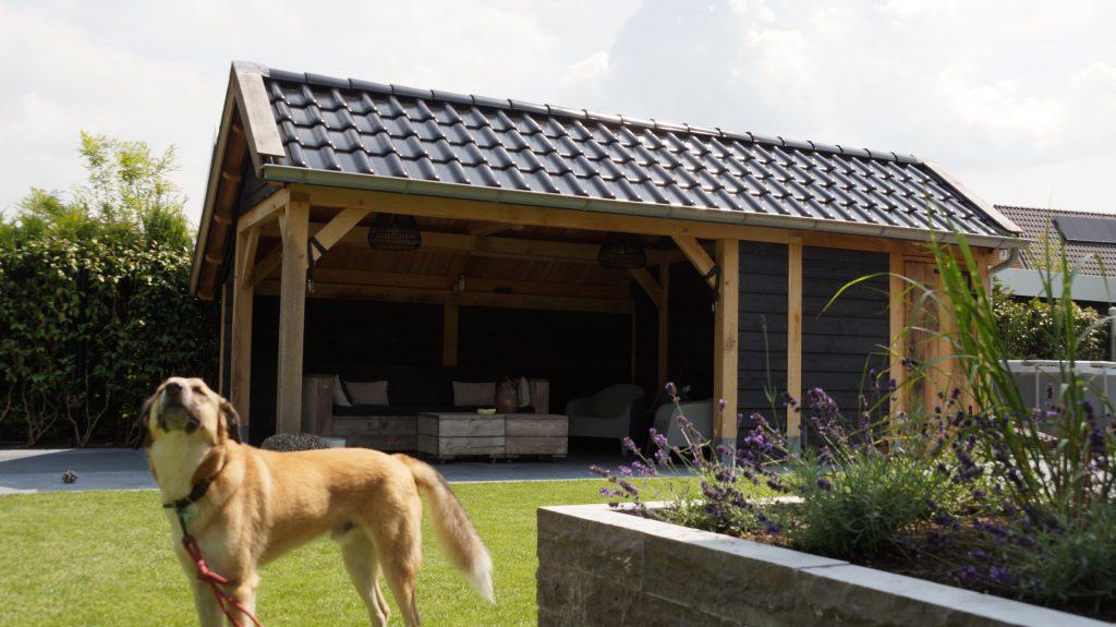 Houten-kapschuur-met-veranda-4-1024x575 - Eiken kapschuur met veranda.